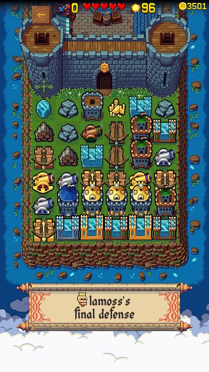 Screenshot of final tower defense