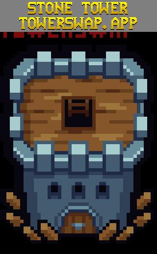 Retro 8bit pixel art medieval Arrow Tower